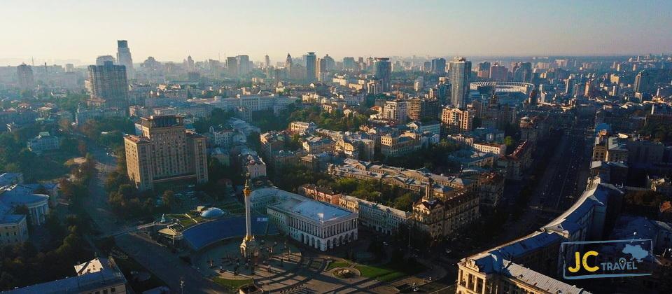 Maidan Nezalezhnosti is the central square